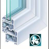 Kommerling 70 plastikinio lango pjūvis