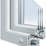Trocal 88+ plastikinio lango pjūvis