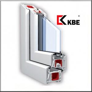 KBE 88 plastikinio lango pjūvis