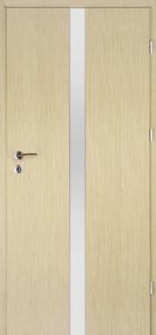 Laminuotos durys, su stiklo intarpu